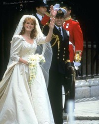 Look Back at Sarah Ferguson's Wedding Dress and See How It Compares to Princess Eugenie's Gown