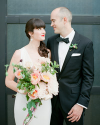 Ashley and Jonathon's Art Deco-Meets-Modern Brooklyn Wedding