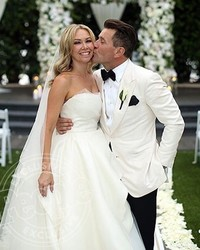 """Former """"DWTS"""" Partners Kym Johnson and Robert Herjavec Talk About Their First Year of Marriage"""