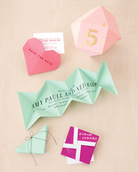 Heart-Shaped Origami Save-the-Dates