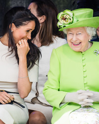 Queen Elizabeth and Meghan Markle Are Having the Best Time on Their First Solo Trip