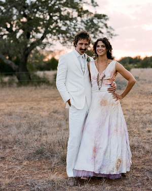 A Rock-'n-Roll Inspired Black-and-Taupe Rustic Wedding on a Ranch in Texas