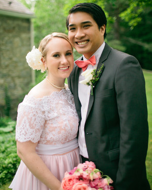 A Crafty Garden-Party Wedding in Hope, New Jersey