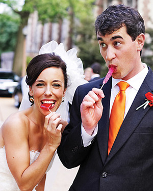 A Whimsical Pink, Orange, and Red Wedding in St. Louis