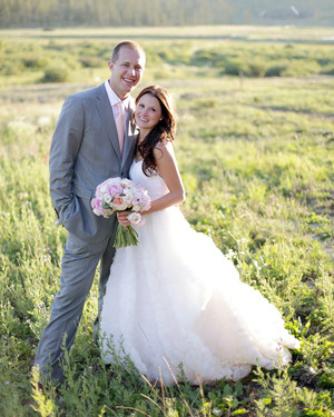 A Pink Rustic Wedding in a Barn in Colorado