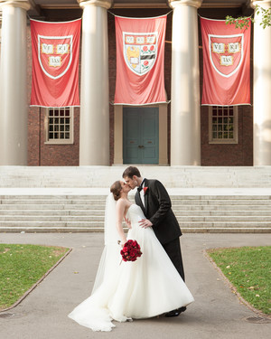 A Modern, Colorful Red and White DIY Wedding in Boston