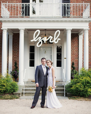 A Romantic Peach, Light-Orange, and Taupe Outdoor Wedding in Maryland