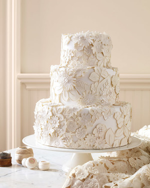 These Fabric-Inspired Wedding Cakes Make for Fashionable Desserts