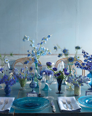 blue wedding decoration ideas. 50 Wedding Centerpiece Ideas We Love 39 Simple Centerpieces  Martha Stewart Weddings