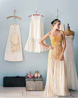 A Sunny Wedding: Yellow Dresses and Bouquets