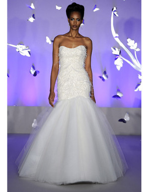 Wedding Dresses with Feather Details from Spring 2012 Bridal Fashion Week
