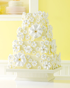 Yellow and Orange Wedding Cakes