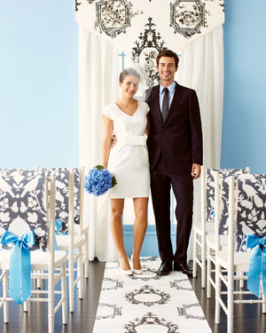 DIY Wedding Decorations Using Wallpaper