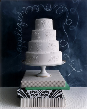 Fabric-Inspired Wedding Cakes