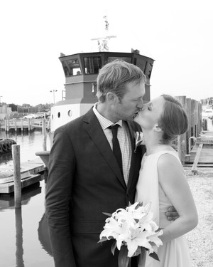 A Vintage, Nautical Wedding on a Boat in Greenport, New York