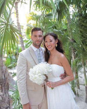 A Beach Destination Wedding in Shades of Blue in Mexico
