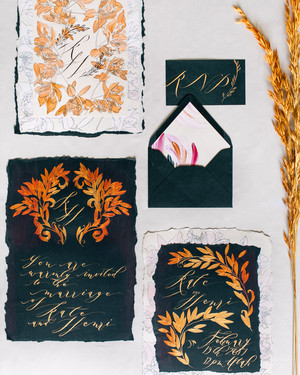 37 Fall Wedding Invitations from Real Weddings