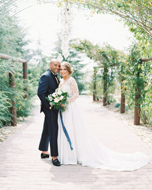 One Couple's Stunning Navy-and-Maroon Wedding in Oak Glen, California