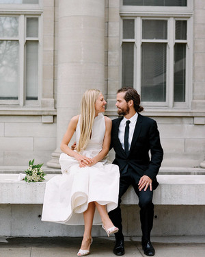 A Modern, Formal White Destination Wedding in Toronto