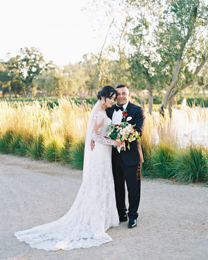 A California Wine Country Wedding with an Apropos Signature Color—Cabernet