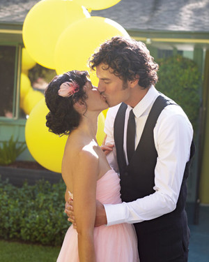 A Casual Yellow-and-Pink Wedding at Home in California