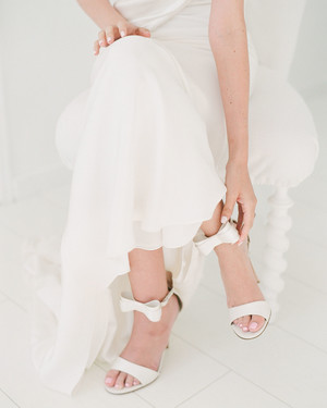 Classic White Wedding Shoes Perfect for the Bride