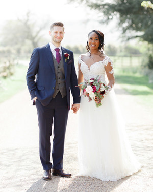 This Elegant All-Day Wedding in England Featured the Prettiest Purple-and-Navy Color Palette