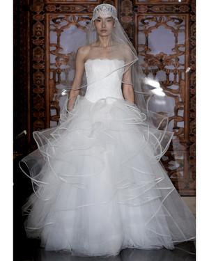 Silver Satin Wedding Dresses 2013