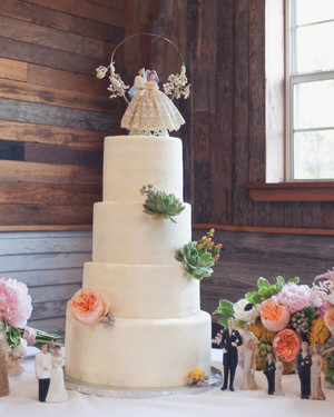 A Romantic Pastel-Colored DIY Wedding in a Barn in Texas