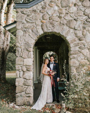 One Couple's Lakeside Fall Wedding in New Hampshire