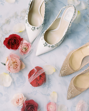 Wedding Shoes That Won't Sink Into the Grass at an Outdoor Wedding