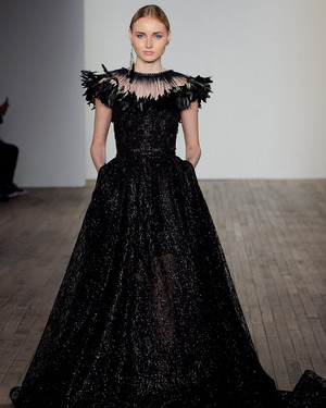 Chic Black Wedding Dress for the Edgy Bride