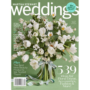 martha stewart weddings spring 2018 issue cover white flowers green magazine