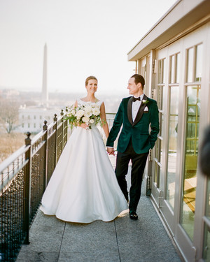 This Formal Washington, D.C., Wedding Proves How Timeless a Green-and-White Color Palette Really Is