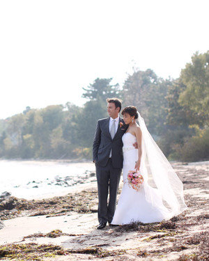 A Colorful Outdoor Destination Wedding in Maine