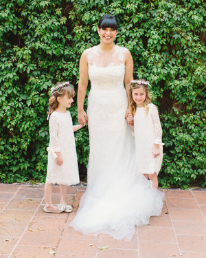 25 of the Sweetest Lace Flower Girl Dresses