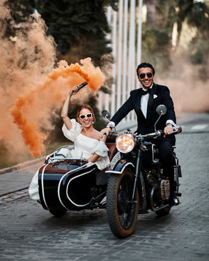 A High-Fashion, High-Energy Wedding in Seville, Spain