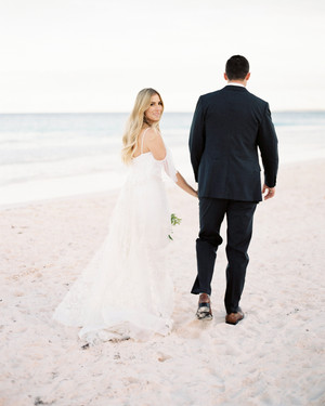 This Understated Beach Wedding in the Bahamas Was Full of Locally-Foraged Greenery