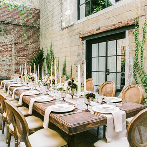 "This Dreamy Wedding Tablescape Gives New Meaning to ""Rustic Chic"""