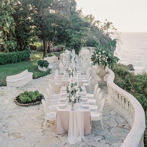 jessica ryan wedding reception on ocean view balcony