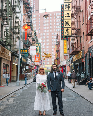 "This Couple's Intimate City Hall Wedding Was ""Very New York"""