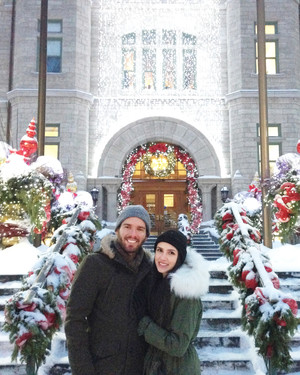Claudia and Gregory's Wintry Honeymoon in Quebec City