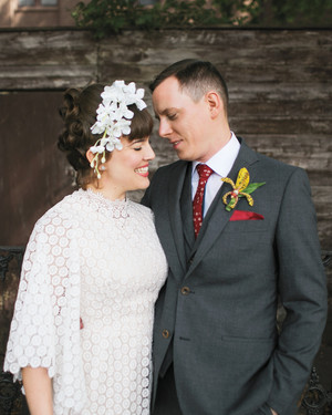 Kim and Tom's Vintage Tiki-Style Brooklyn Wedding