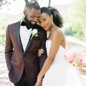 niara allen wedding couple