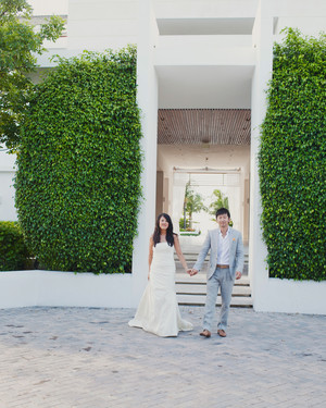 A Vibrant, Modern Beachfront Destination Wedding in Turks and Caicos