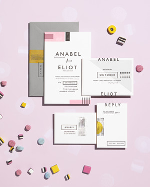 5 Wedding Stationery Suites Inspired by Sweets