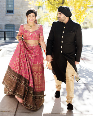This Couple Put a Modern Twist on Their Indian Wedding in Minneapolis