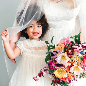 johanna erik wedding flower girl
