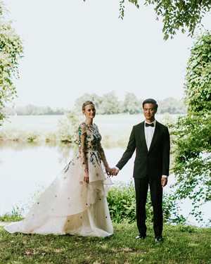 A Leafy, Floral-Themed Wedding in North Carolina