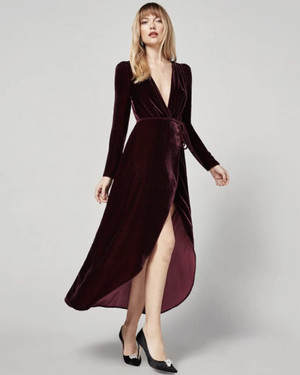 Velvet Dresses for Any Pre-Wedding Party